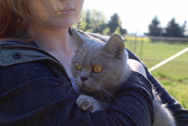 Audrey auf Arm